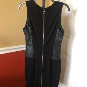bebe Dresses - Bebe faux leather black dress size Medium